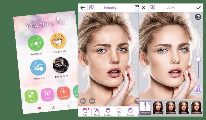 Aplicaciones para Embellecimiento de selfies