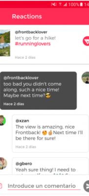 reacciones FrontBack