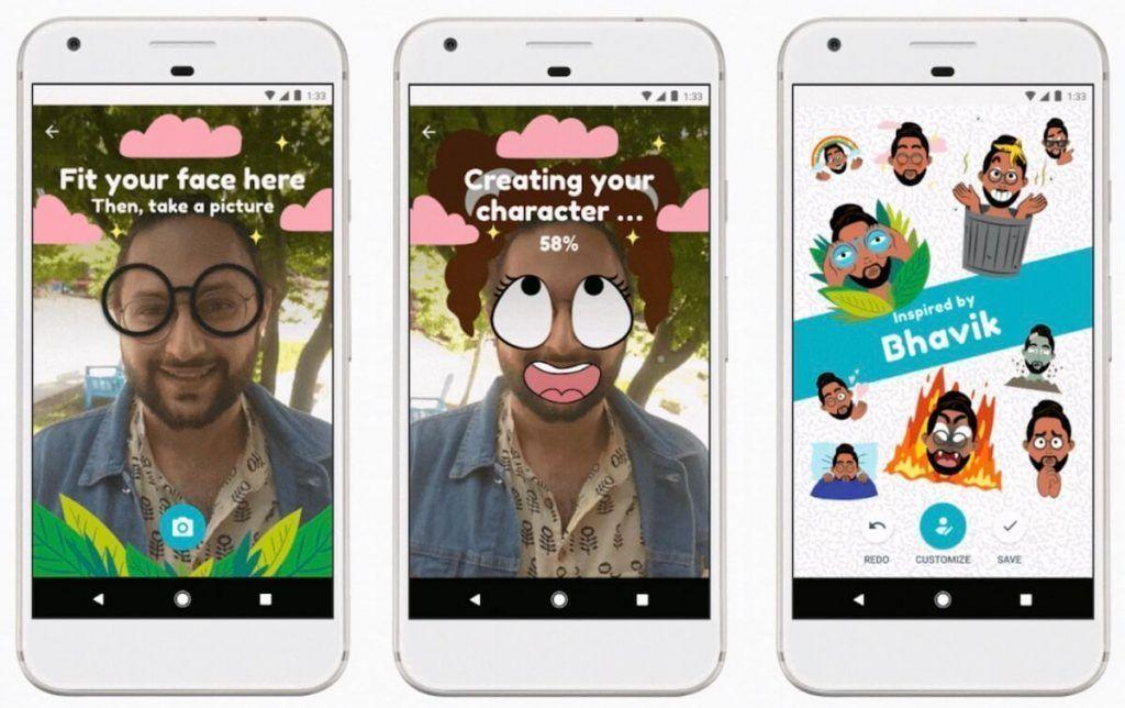 Stickers para Selfies