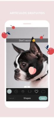 stickers y emojis Cymera