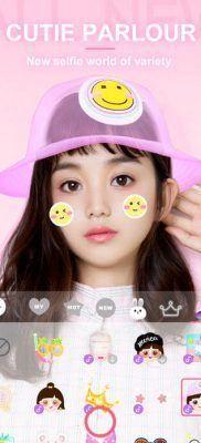 BeautyCam stickers y emojis