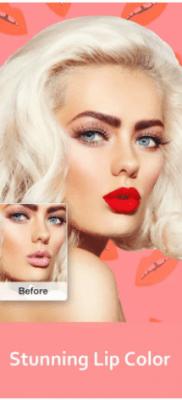 Cámara Z color de los labios pintar labios