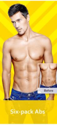 Cámara Z poner cuadritos six-pack musculoso abdominales