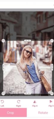 InstaBeauty recortar fotografias selfies