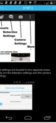 Smart Selfie paso dos configurar