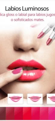 YouCam MakeUp gloss para labios pintar brillosos