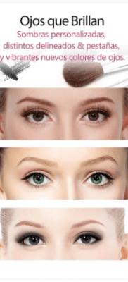 YouCam MakeUp mejorar ojos brillantes en selfies