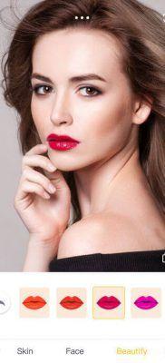 camera360 pintar labios y embellecer labios