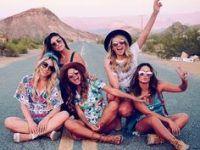 foto cinco amigas casual calle