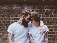 foto creativa pareja hipster