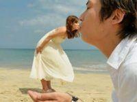 foto de pareja besandose con ilusion optica
