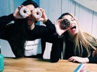 foto tumblr mejores amigas donas