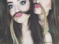 fotos tumblr creativas mejores amigas bigote