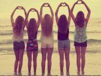 idea foro corazones cinco amigas