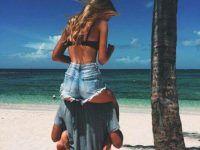 idea foto playa novio carga a novia
