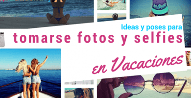 ideas y poses para fotos en vacaciones creativas