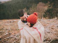 Sesiones de fotos en invierno de Parejas en el campo