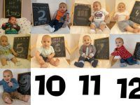 bebito del primer mes al décimo