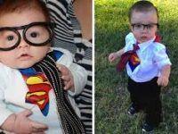 bebito disfrazado de superman