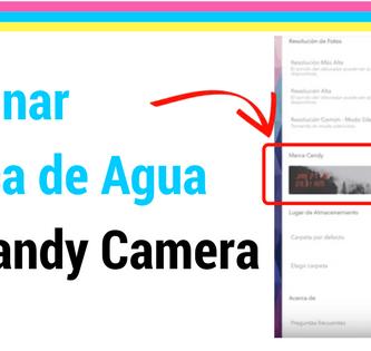 tutorial como eliminar logo de candy camera de las fotos