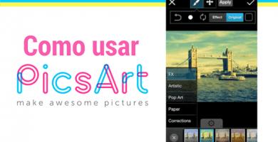 como utilizar picsart para editar selfies