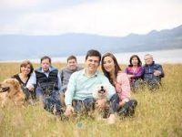 la familia completa en el campo