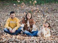 la familia en otoño