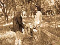 pareja en el campo