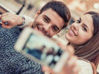 selfie romantica