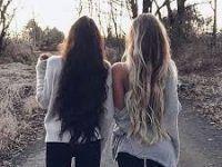con su mejor amiga