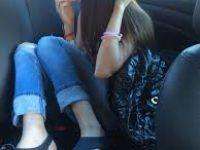 en el auto