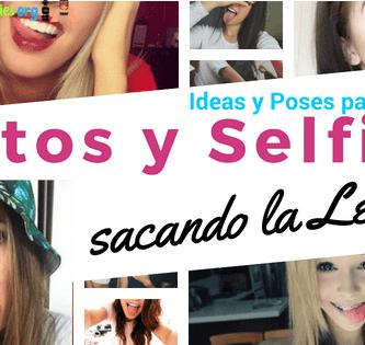 ideas para tomarte fotos y selfies sacando la lengua